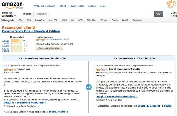 e-commerce recensioni amazon
