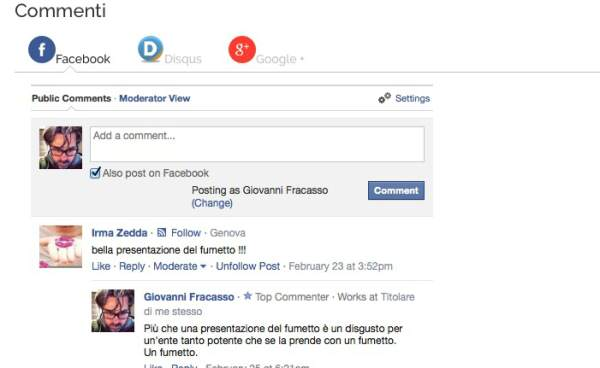 e-commerce recensioni facebook