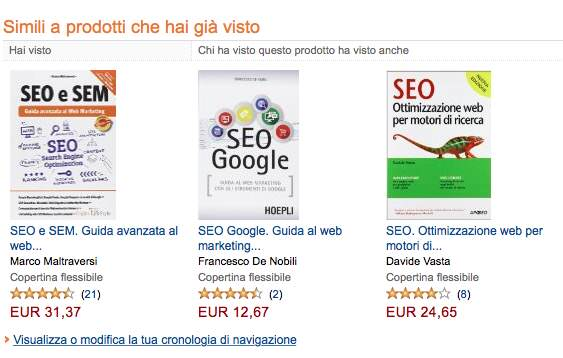 Studiare Amazon SEO: Rich Snippets