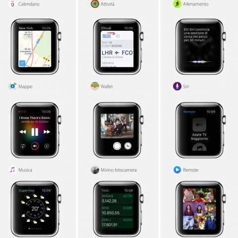 Funzioni base Apple Watch