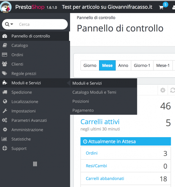 Prestashop cloud: come entrare nei moduli