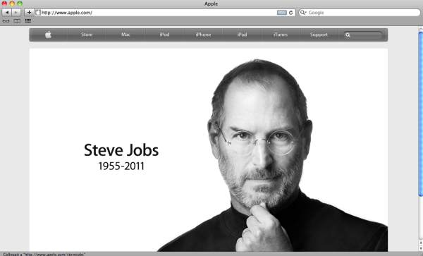 sito apple per la morte di steve jobs